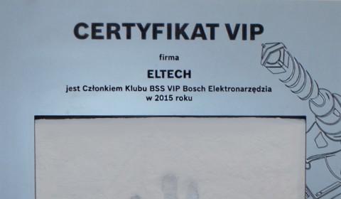 Po raz kolejny jesteśmy członkiem elitarnego Klubu BSS VIP BOSCH Elektronarzędzia