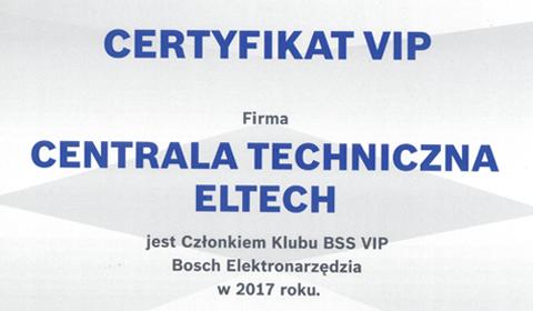 CT ELTECH w prestiżowym klubie BSS VIP BOSCH Elektronarzędzia 2017