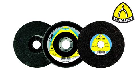 Wysokowydajna ściernica talerzowa NUD 500 i nowa wersja krążka z włókniny szlifierskiej MFW 600 KLINGSPOR